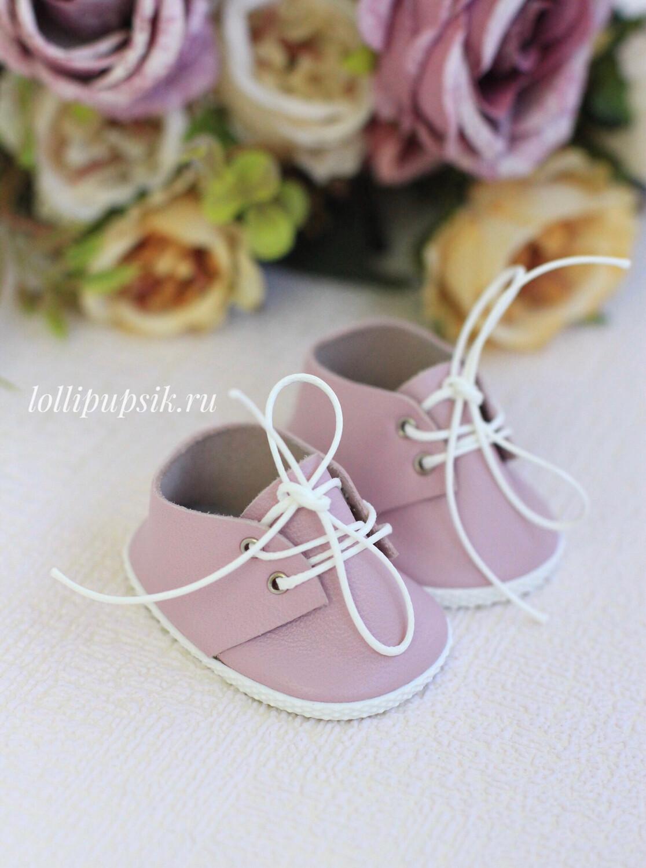Кожаные ботиночки для Бетти, розовые