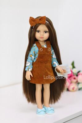 Кукла Кэрол Рапунцель с длинными волосами в модной одежде (Паола Рейна), 34 см