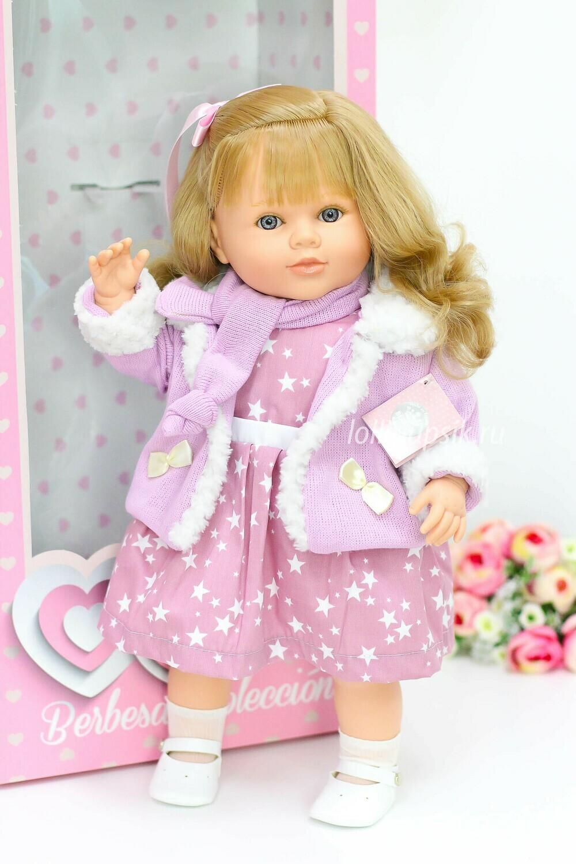 Кукла Carla, со звуковым механизмом, с волнистыми волосами, Berbesa 52 см