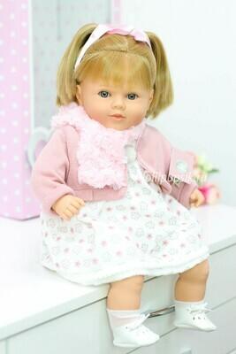 Кукла Carla, со звуковым механизмом, с прямыми волосами, Berbesa 52 см