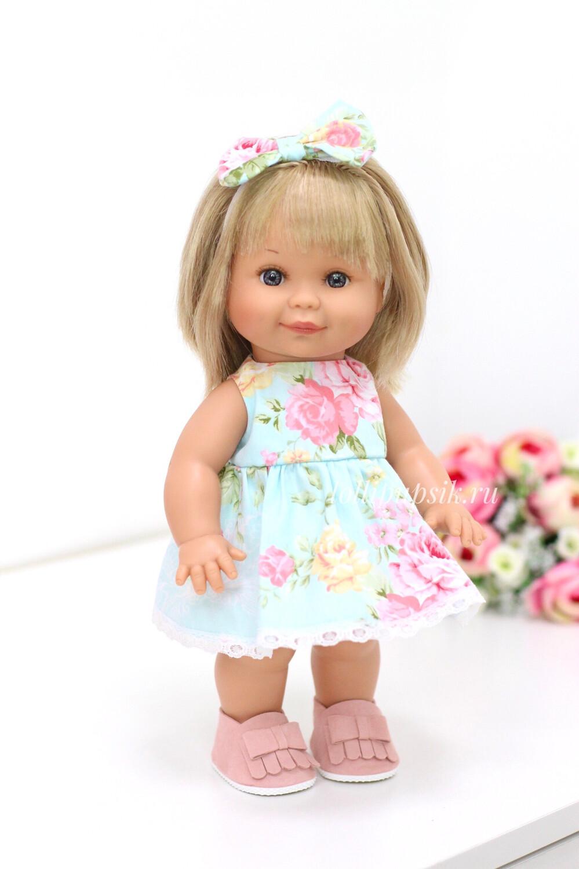 Кукла Бетти с ароматом карамели, 30 см (в летнем цветочном платье) Lamagik Magic Baby