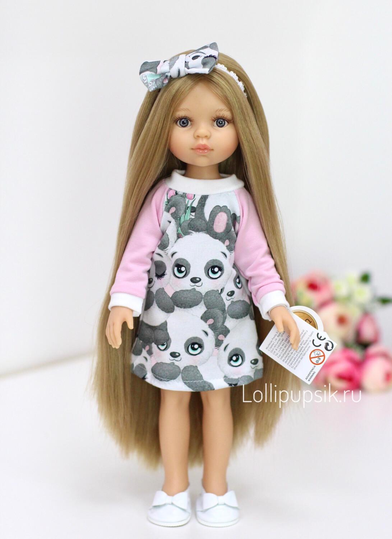 Предзаказ. Отправка после 10 июня. Кукла Карла Рапунцель с серо-голубыми глазами в платье Паола Рейна (пижама в комплекте), 34 см