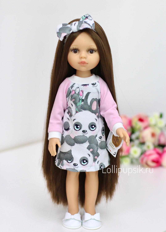 Предзаказ. Отправка после 10 июня. Кукла Кэрол Рапунцель с длинными волосами в модном платье (Паола Рейна) (пижама в комплекте), 34 см
