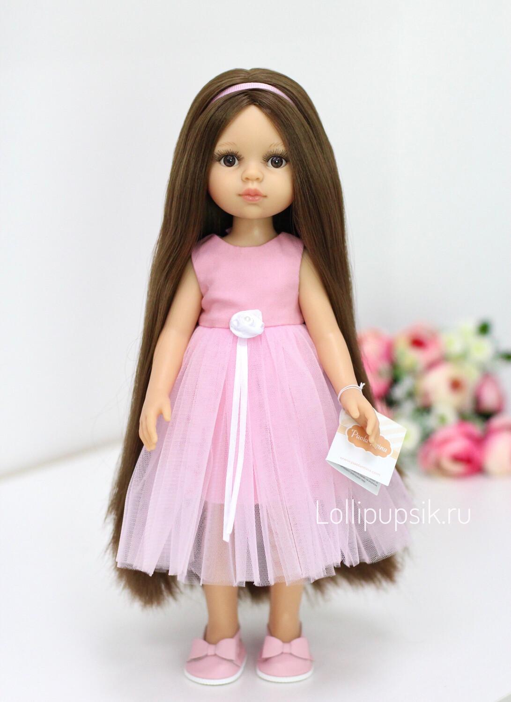 Кукла Кэрол Рапунцель с длинными волосами в нарядном платье (пижама в комплекте) (Паола Рейна), 34 см