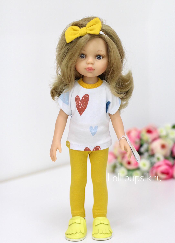 Отправка после 18.10. Кукла Карла с волосами по пояс в модном наряде, с серыми глазами (Паола Рейна), 34 см
