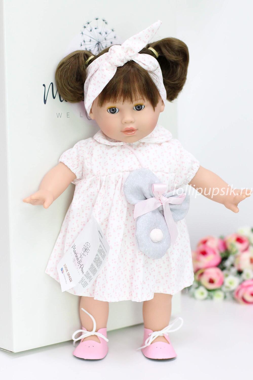 Кукла мягконабивная Тина с закрывающимися глазками, Marina&Pau, 42 см
