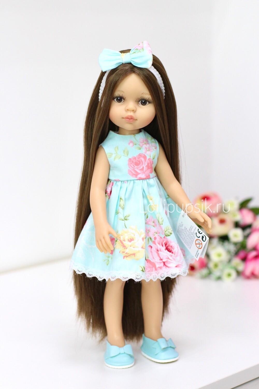 Кукла Кэрол с волосами до щиколоток в летнем платье, Paola Reina, 34см