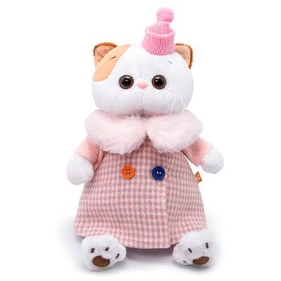 BUDI BASA Мягкая игрушка кошечка Ли-Ли в комбинированном пальто - 24 см в положении сидя