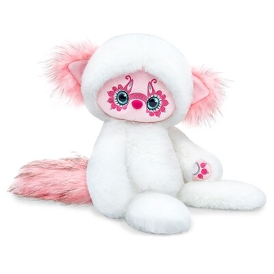 BUDI BASA Мягкая игрушка Лори КОЛОРИ Юки (белый) - 25 см в положении сидя