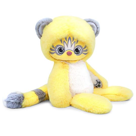 BUDI BASA Мягкая игрушка Лори КОЛОРИ Эйка (желтый) - 25 см в положении сидя