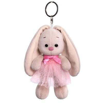 BUDI BASA Брелок Зайка Ми в розовой юбке и с бантиком - 14 см