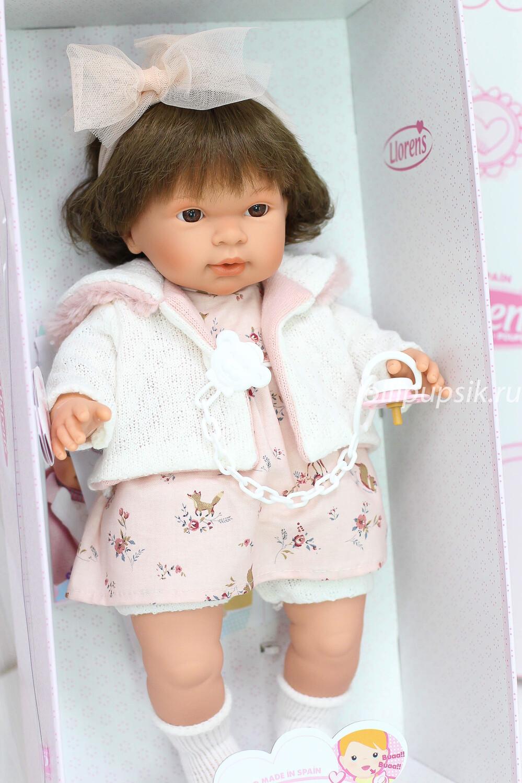 Кукла мягконабивная Pippa со звуковым механизмом, Llorens, 42 см