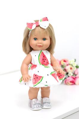 Кукла Бетти с ароматом карамели, 30 см (в летнем платье с арбузами) Lamagik Magic Baby