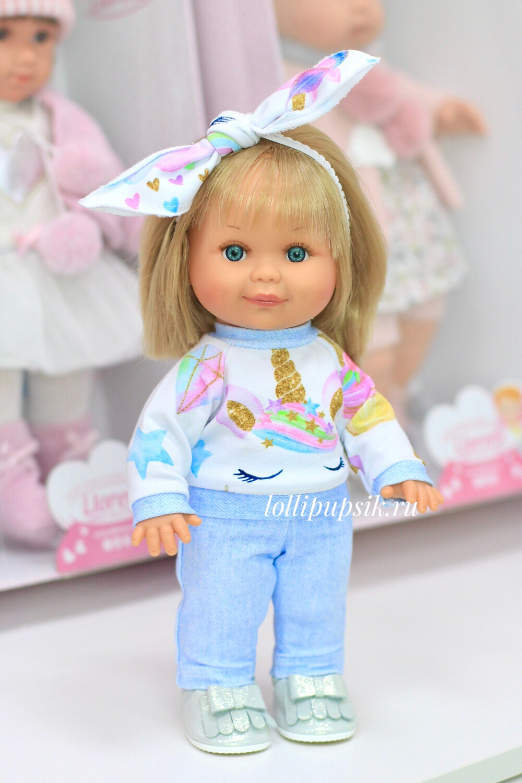 Кукла Бетти с ароматом карамели, 30 см (в костюмчике с единорогом) Lamagik Magic Baby