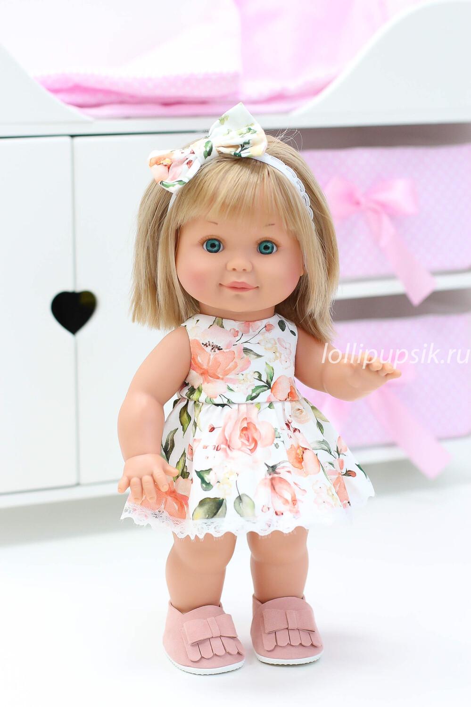 Кукла Бетти с ароматом карамели, 30 см (в цветочном платье) Lamagik Magic Baby