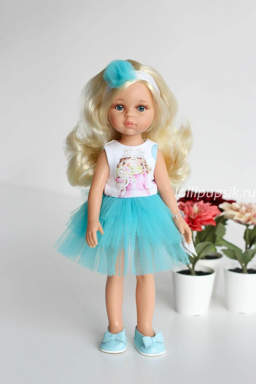 Кукла Клаудия в нарядном платье Паола Рейна, 34 см