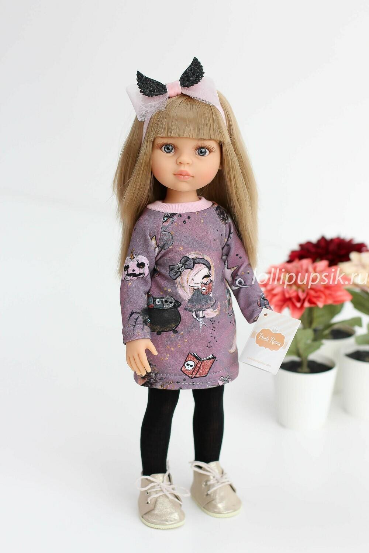 Кукла Карла с челкой в модном наряде, с волосами до пояса (Паола Рейна), 34 см
