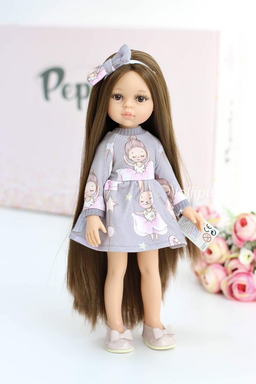 Кукла Кэрол Рапунцель с длинными волосами в модном платье (Паола Рейна), 34 см