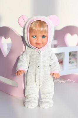 Кукла Бетти с ароматом карамели, 30 см (в велюровом комбинезоне на кнопках) Lamagik Magic Baby