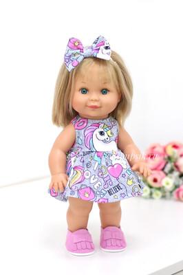Кукла Бетти с ароматом карамели, 30 см (в платье с единорожками) Lamagik Magic Baby