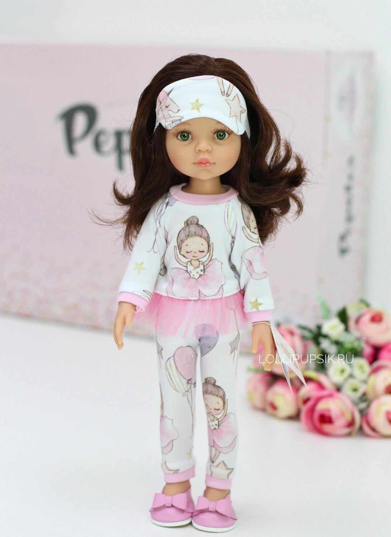 Кукла Кэрол с волосами по пояс в модной пижамке, с зелеными глазами (Паола Рейна), 34 см