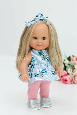 Кукла Бетти Рапунцель с ароматом карамели, 30 см (в тунике и легинсах) Lamagik Magic Baby