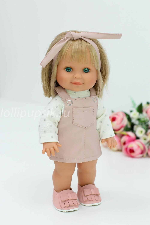 Кукла Бетти с ароматом карамели, 30 см (в сарафане из розовой экокожи) Lamagik Magic Baby