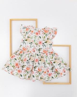 Платье летнее «Коралловые цветы»