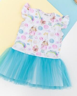 Платье с фатиновой баской «Куколки»
