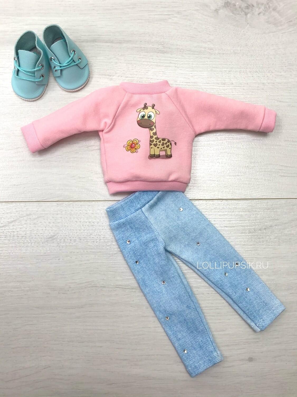 Комплект с жирафиком для куклы Paola Reina 32-34 см