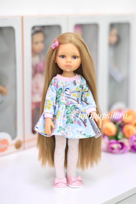 Кукла Карла Рапунцель в голубом платье с птичками, Паола Рейна , 34 см