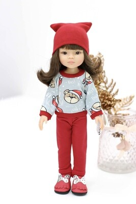 Кукла Мали с челкой и карими глазами в модной одежде Паола Рейна , 34 см