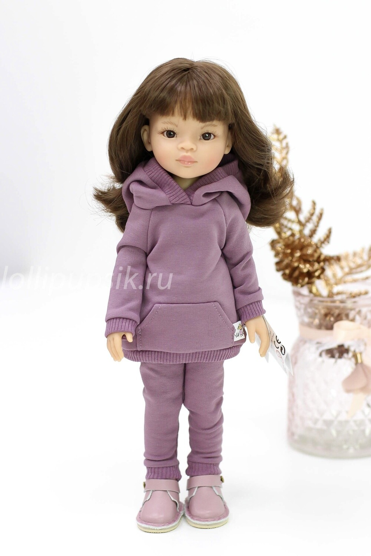 Кукла Мали с челкой и карими глазами в стильном костюме, Паола Рейна, 34 см