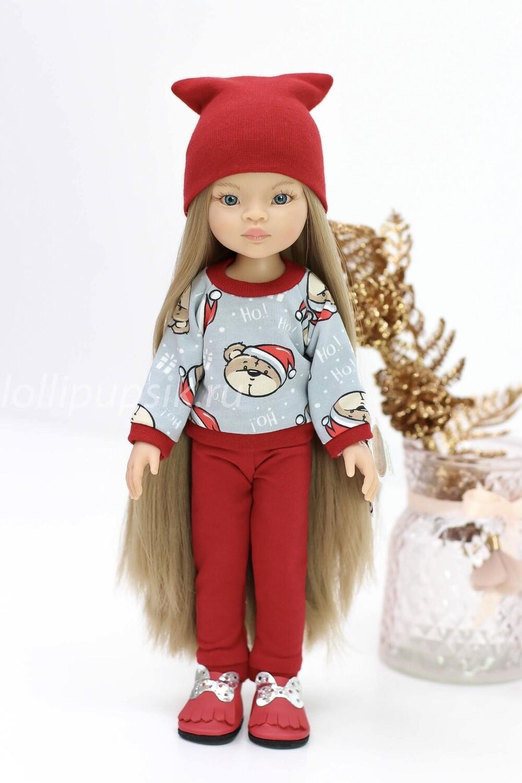 Кукла Маника с волосами до щиколоток (Рапунцель) в модном костюме (пижама в комплекте), Паола Рейна, 34 см