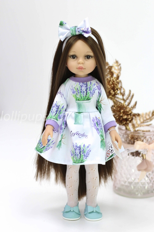 Кукла Кэрол Рапунцель с длинными волосами в лавандовом платье (пижама в комплекте) (Паола Рейна), 34 см
