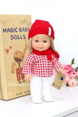 Кукла Бетти с ароматом карамели, с изумрудными глазками, в костюме лыжницы, 30 см, Lamagik Magic Baby