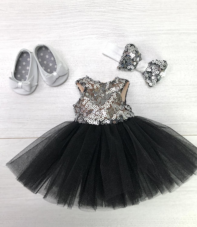 Наряд (чёрный) для куклы Paola Reina 32-34 см