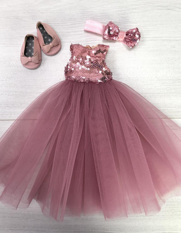 Наряд (розовый) для куклы Paola Reina 32-34 см