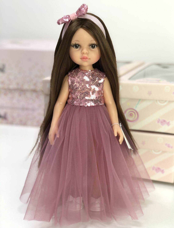 Кукла Кэрол Рапунцель с длинными волосами в нарядном платье (Паола Рейна), 34 см