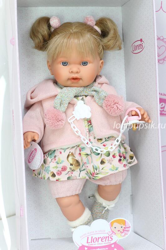 Кукла мягконабивная Alexandra со звуковым механизмом, Llorens, 42 см