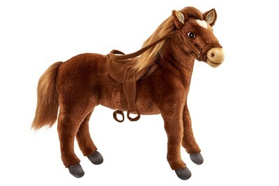 Лошадь, 37 см (оседланная рыжая)