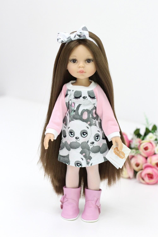 Кукла Кэрол Рапунцель с длинными волосами в стильном наряде (Паола Рейна) (пижама в комплекте), 34 см
