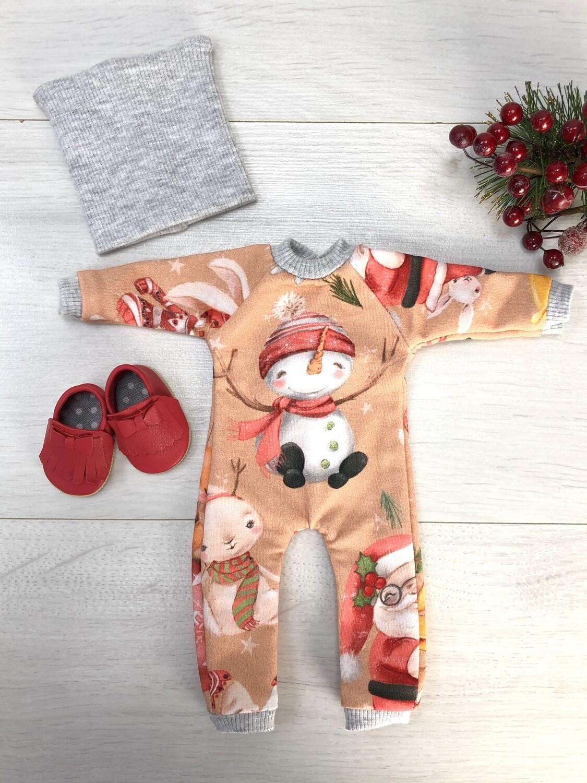 Наряд со снеговиком для куклы Paola Reina 32-34 см