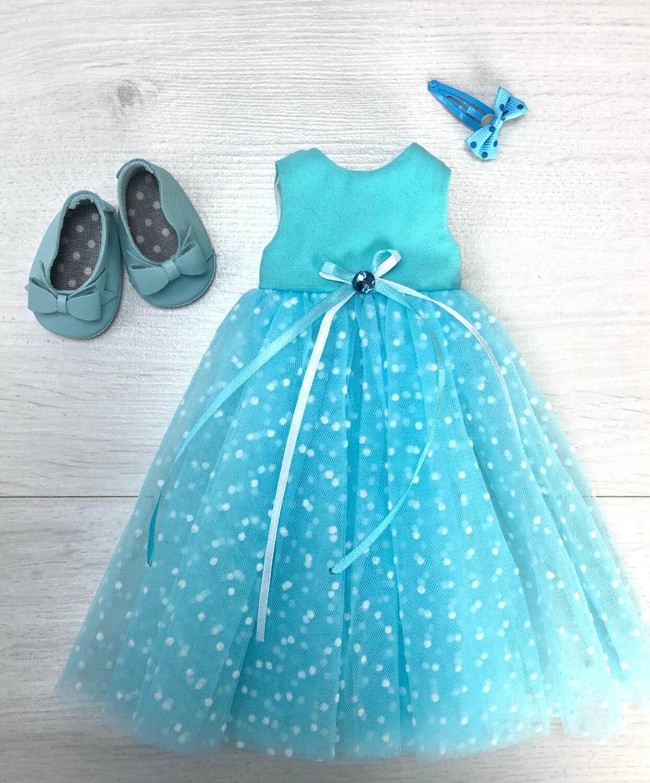 Наряд (голубой) для куклы Paola Reina 32-34 см