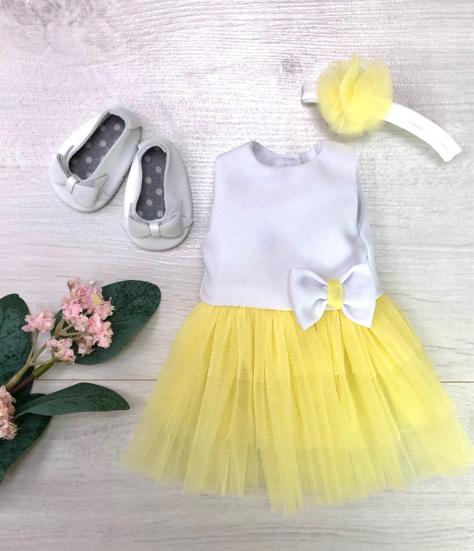 Наряд (жёлтый) для куклы Paola Reina 32-34 см