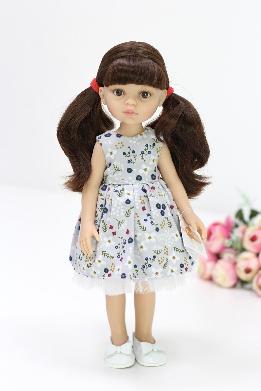 Кукла Кэрол с челкой в летнем платье (Паола Рейна), 34 см