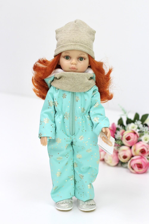 Кукла Кристи в зимнем комбинезоне,  Паола Рейна , 34 см