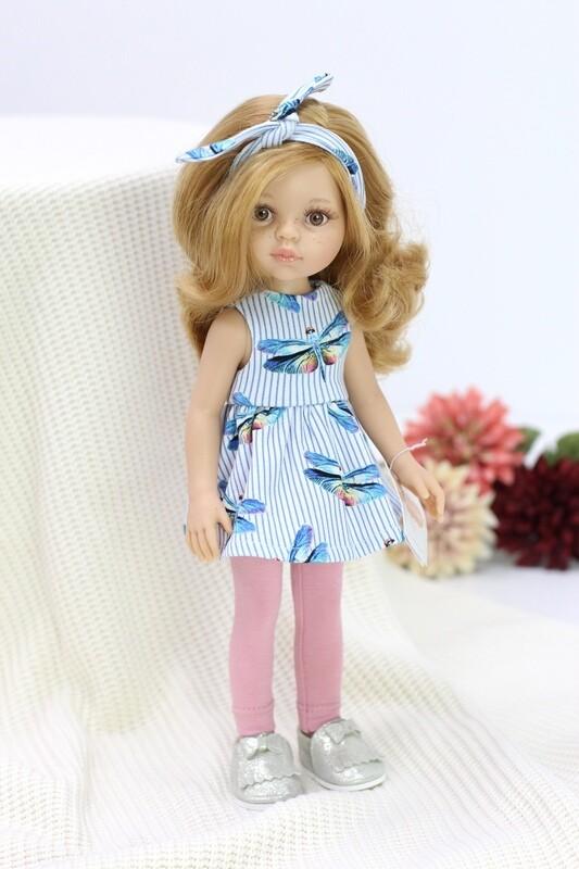 Кукла Даша в костюме со стрекозками (Паола Рейна), 34 см