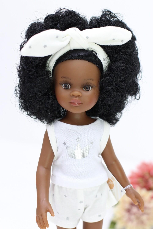 Кукла Нора кудряшка в пижаме (Паола Рейна), 34 см