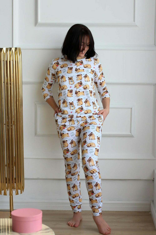 Пижама женская «Мопсы»